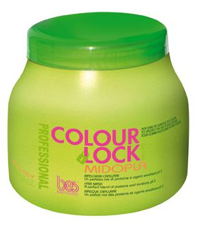BES Colour Lock Midopla Hair Mask 1000ml - Rekonstrukční maska