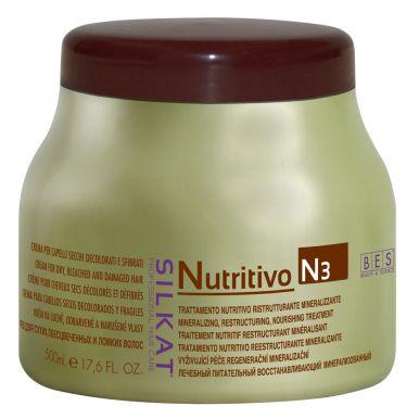 BES Silkat Nutritivo Creme N3 500ml - Maska na poškozený vlas
