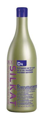 BES Silkat Ristrutturante Shampoo D4 1000ml - Restrukturační šampon na barvené vlasy