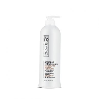 Black Cioccolato E Cheratina Shampoo 500ml - Výživný a hydratační šampon