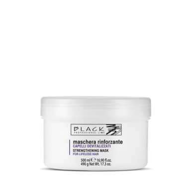 Black Strengthening Mask 500ml - Posilující regenerační maska pro slabé vlasy