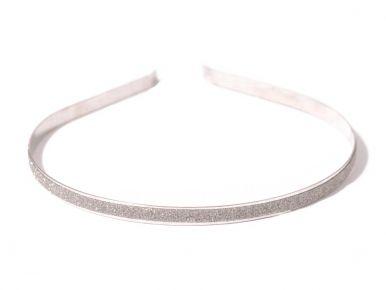 Čelenka kovová s leskem stříbrná CE01250-017