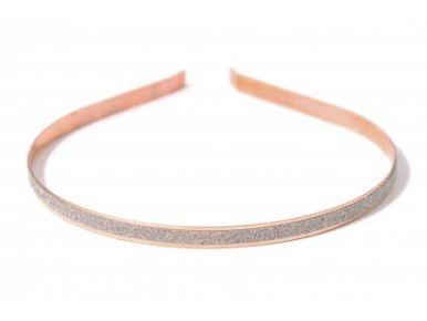 Čelenka kovová s leskem zlatá CE01250-017A