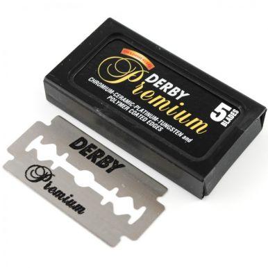 Derby Premium Double Edge - Žiletky černé 5ks