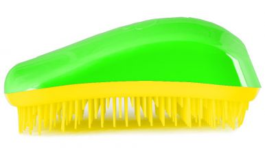 Dessata Original Green - Yellow - Profesionální kartáč na vlasy