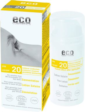 Eco Cosmetics Sun Cream Neutral SPF 20 100ml - Opalovací krém bez parfemace