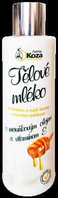 Farma Koza - Tělové mléko s medem a kozím mlékem 200ml