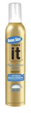 Freeze It Original Mousse (24 Hour Hold) 340ml - Silně tužící pěnové tužidlo s leskem