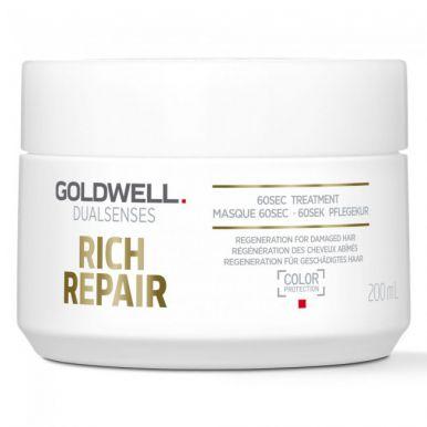 Goldwell Dualsenses Rich Repair 60sec Treatment 200ml - Maska na poškozený vlas