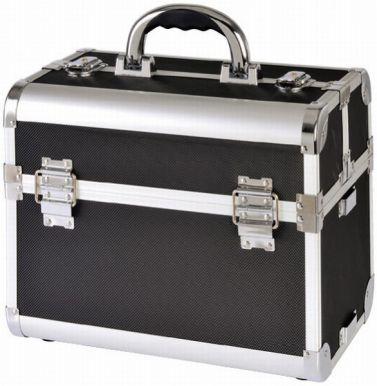 Kufr kadeřnický Alu černý