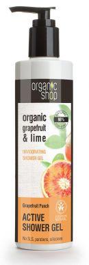 Organic Shop Active Shower Gel Grapefruit & Lime 280ml - Aktivní sprchový gel