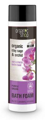 Organic Shop Bath Foam Clay Sage & Orchid 500ml - Antistresová pěna do koupele