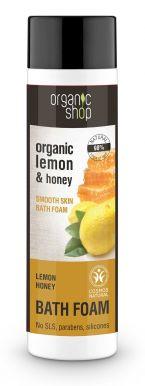Organic Shop Bath Foam Lemon & Honey 500ml - Zvláčňující pěna do koupele