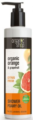 Organic Shop Shower Foamy Oil Orange & Grapefruit 280ml - Srpchový olej