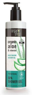 Organic Shop Spa Shower Gel Aloe & Minerals 280ml - Hydratační sprchový gel