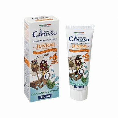 Pasta del Capitano Junior Soft Mint 75ml - Prémiová zubní pasta pro děti od 6 let