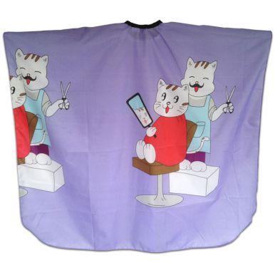 Pláštěnka dětská Kočky - fialová