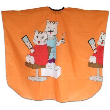 Pláštěnka dětská Kočky - oranžová