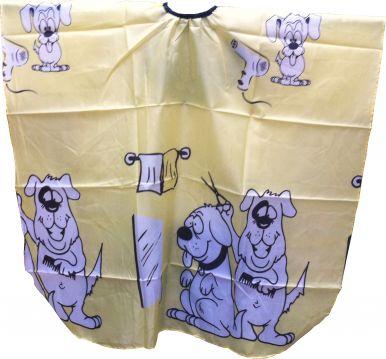 Pláštěnka dětská Psi - žlutá