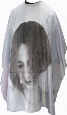 Pláštěnka stříhací Tvář - šedá