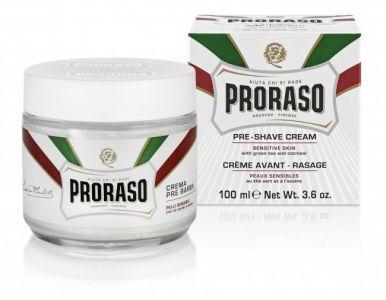 Proraso White Pre-Shaving Cream 100ml - Krém před a po holení pro citlivou pokožku