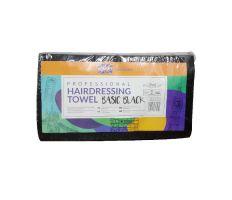 Ronney Hairdressing Towel Black 40x76cm 50ks - Kadeřnické jednorázové ručníky černé