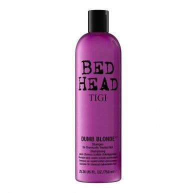 Tigi Bed Head Dumb Blonde Shampoo 750ml - Šampon pro chemicky namáhané vlasy