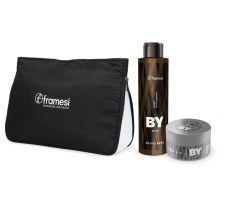 Vánoční balíček Framesi - Energy Black Shampoo 200ml + Urban Gloss Wax 80ml