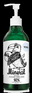 Yope Natural Liquid Kitchen Soap Mineral 500ml - Přírodní kuchyňské mýdlo na ruce