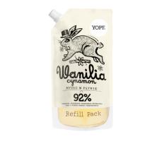 Yope Natural Refill Soap Vanilla & Cinnamon 500ml - Tekuté hydratační mýdlo náplň