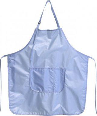 Zástěra střihací lesklý nylon-modrá