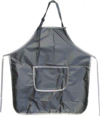 Zástěra střihací lesklý nylon-šedá